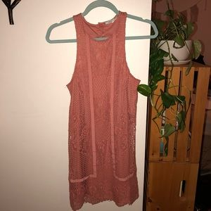 Dusty Rose Lace Urban Outfitters Dress